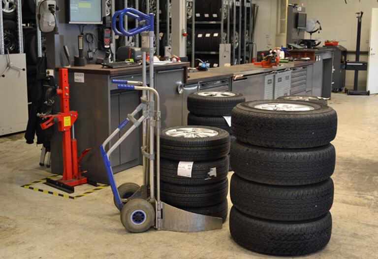 skifta hjul däck